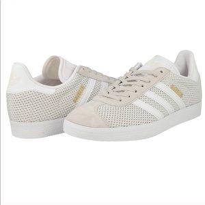 Adidas // Gazelle Talc White Beige Sneakers